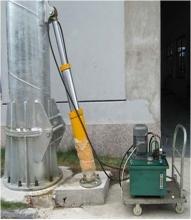 Бензиновый гидравлический пресс подъема вышки ветрогенератора