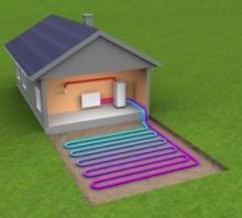 С тепловым насосом система отопления дешевле